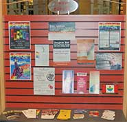 Pride awareness display at Unionville Public Library.