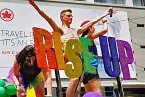 York Pride Fest participates in the Toronto WorldPride parade.
